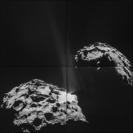 """La cometa """"Chury"""" fotografata il 26 settembre 2014 da una distanza di 26.3km. Fonte: ESA/Rosetta/NAVCAM"""