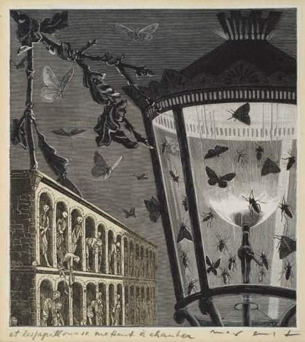 Memento mori di Max Ernst,  Et le papillon se mettent a chanter, 1929 Stadel verein. Credit: VG Bild-Kunst Foto: U.Edelmann